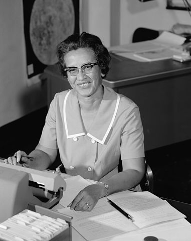 Katherine Johnson By NASA; restored by Adam Cuerden [Public domain], via Wikimedia Commons
